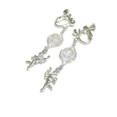 【天使】アクアオーラ/水晶のイヤリング