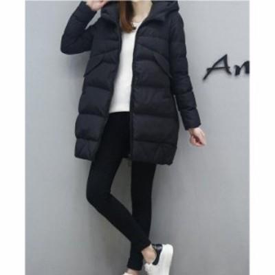 ダウンコート レディース ダウンジャケット レディース 中綿コート 暖かい 体型カバー フード付き 軽い 20代30代40代 ショート丈コート