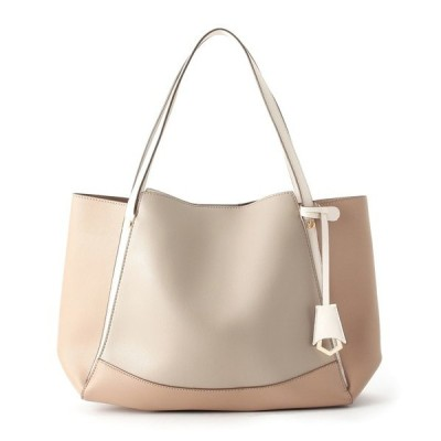 ◆【A4サイズ収納可】配色トートバッグ