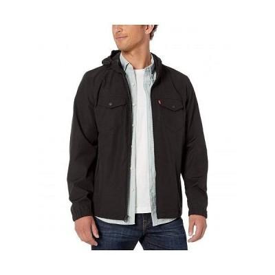 Levi's(R) リーバイス メンズ 男性用 ファッション アウター ジャケット コート レインコート Two-Pocket Shortie Rain Hoodie - Black