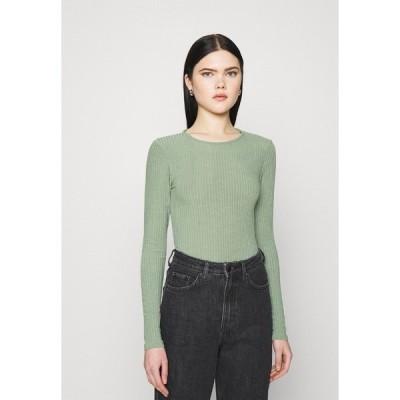 ニュールック カットソー レディース トップス SOFT CREW NECK BODY - Long sleeved top - light green
