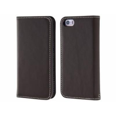 【冬セール・15%OFF】 レイアウト iPhone SE/iPhone 5s/iPhone 5 手帳型ケース 本革 ダークブラウン