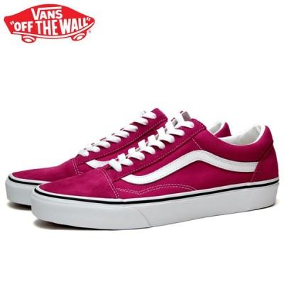 バンズ オールドスクール スニーカー メンズ レディース ローカット スケートシューズ 定番 赤 ピンク VANS OLD SKOOL CERISE/TRUE WHITE VN0A4U3B2NE 靴 くつ
