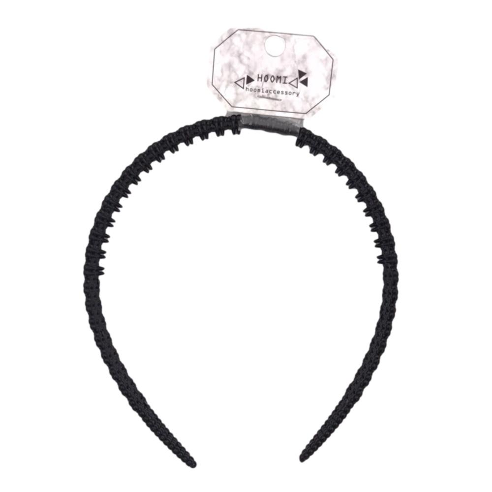 【HOOMI】小圓花髮箍(黑色)