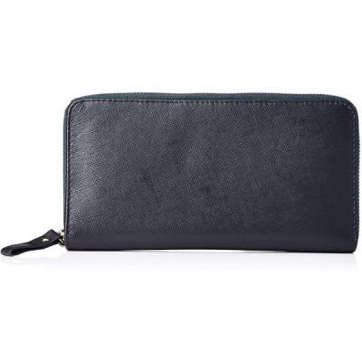 [ハレルヤ] 牛革 saffiano leather 長財布 (Navy) サフィアーノレザー ネイビー HAW016-Navy
