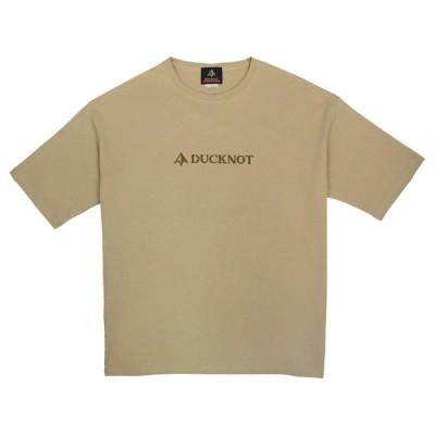 アウトドアシャツ DUCKNOT ビッグシルエット Tシャツ DUCKNOTロゴ M サンドベージュ