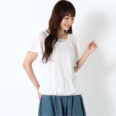 【nojean】花柄フェイクレイヤードTシャツ(ノージーン/NO JEAN)