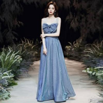 パーティードレス ロング ドレス フォーマル イブニングドレス ウェディング 結婚式 演奏会 ドレス 大きいサイズ xl 2xl 3xl きれいめ 可