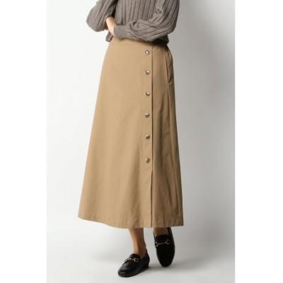 【イッカ】 サイドボタンAラインスカート レディース ベージュ L ikka