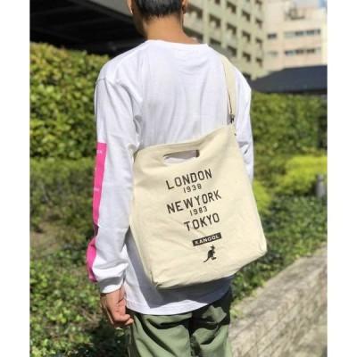 ショルダーバッグ バッグ 【KANGOL/カンゴール】 キャンバス プリント サコッシュ
