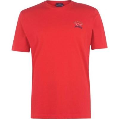 ポールアンドシャーク Paul And Shark Crew メンズ Tシャツ ロゴTシャツ トップス Logo T Shirt Red
