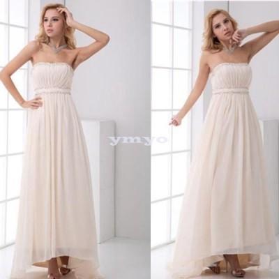 ドレス レディース パーティードレス ロングドレス ベアトップ クリスタル シフォン 大きいサイズ ポイント消化