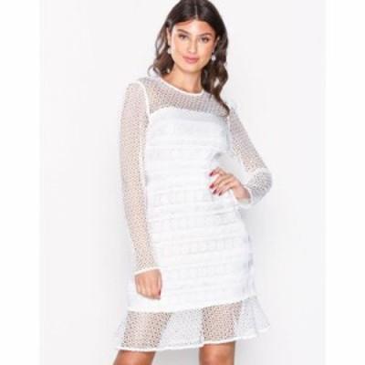リバーアイランド ボディコンドレス genevieve lace dress Ivory