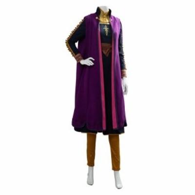 高品質 高級コスプレ衣装 ディズニー 風 アナと雪の女王 アナ/エルサ オーダーメイド コスチュームドレス New Anna Cosplay Costume Prin