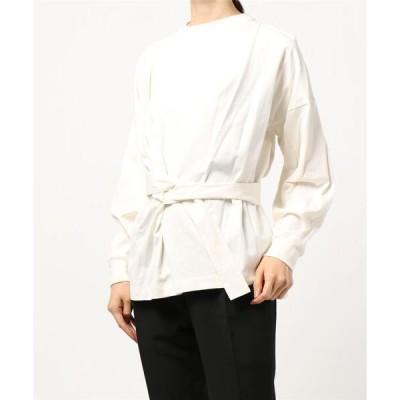 tシャツ Tシャツ 【OUD】カシュクールロングスリーブカットソー