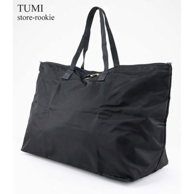 TUMI トゥミ ケース付き ナイロン トートバッグ just in case Tote レディース ボストン 鞄 0481849DP/ブラック