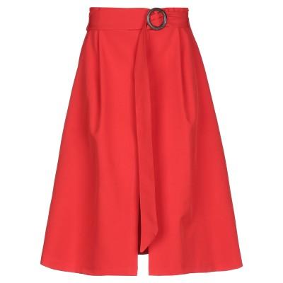 SPAGO DONNA 7分丈スカート レッド 40 ポリエステル 89% / ポリウレタン 11% 7分丈スカート