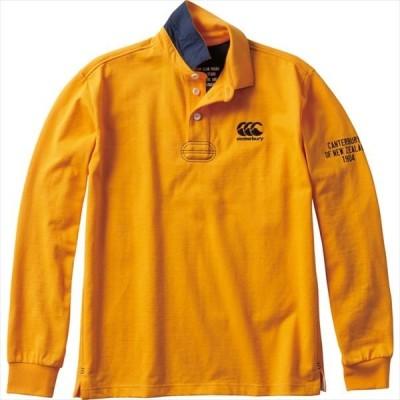 [canterbury]カンタベリー 長袖ラガーポロシャツ (RA49608)(55) ワラビーズオレンジ[取寄商品]