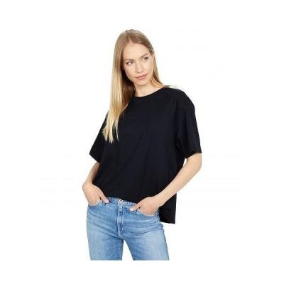 AG Adriano Goldschmied アドリアーノゴールドシュミット レディース 女性用 ファッション Tシャツ Karter Ex Boyfriend Short Sleeve Crew - True Black