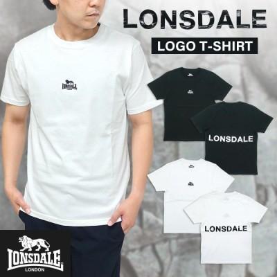 LONSDALE(ロンズデール)ロゴプリント Tシャツ メンズ 半袖 ベーシック シンプル 刺繍