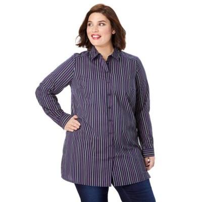 ユニセックス 衣類 トップス Roaman's Plus Size Kate Tunic ブラウス&シャツ