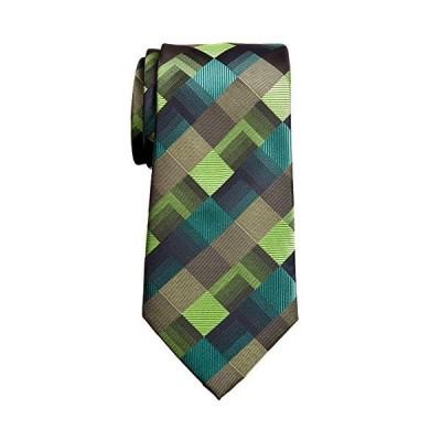 "Retreez Vintage Geometric Pattern Woven Microfiber 3.15"" Men's Tie - Green"