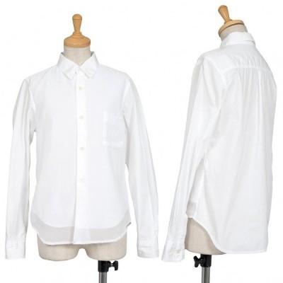 コムコム コムデギャルソンCOMME des GARCONS フロントシフォンレイヤードデザインシャツ 白XS 【レディース】