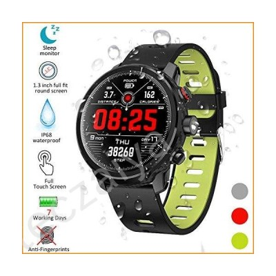 Kivors Smart Watch IP68 Waterproof Bluetooth Smart Watch, Variety of Exercise Modes, Fitness Tracker,Step Counter, Call and Message Notification, Suit