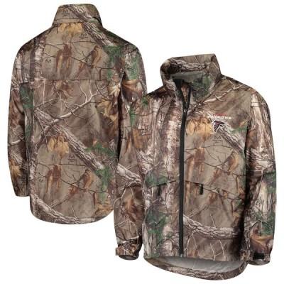 """メンズ ジャケット """"Atlanta Falcons"""" Sportsman Waterproof Packable Full-Zip Jacket - Realtree Camo"""
