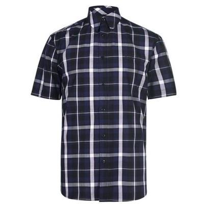 ピエールカルダン シャツ メンズ トップス Check Print Short Sleeve Shirt Mens