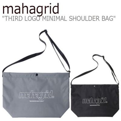 マハグリッド ショルダーバッグ mahagrid メンズ レディース THIRD LOGO MINIMAL SHOULDER BAG サード ロゴ ミニマル ショルダーバッグ MG2ASMAB40ABK/CH バッグ