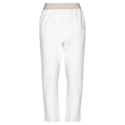 グラン サッソ GRAN SASSO パンツ ホワイト 44 レーヨン 96% / ポリウレタン 4% パンツ