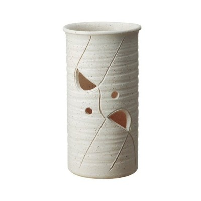信楽焼陶器 かすみ透かし傘立 高さ45.0cm