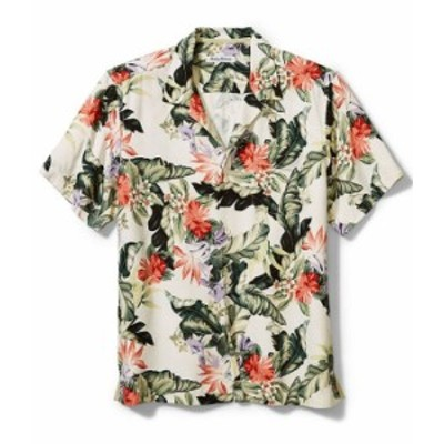 トッミーバハマ メンズ シャツ トップス Big & Tall Garden Of Hope And Courage Short-Sleeve Woven Shirt Coconut