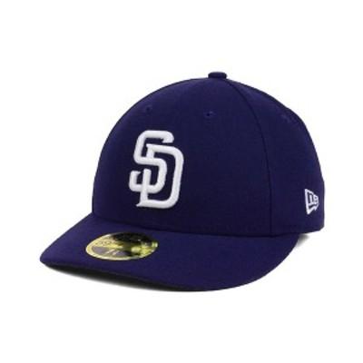 ニューエラ メンズ 帽子 アクセサリー San Diego Padres Low Profile AC Performance 59FIFTY Cap LightNavy