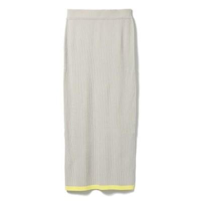CLEAR IMPRESSION/クリアインプレッション バイカラータイトスカート グレー1 00