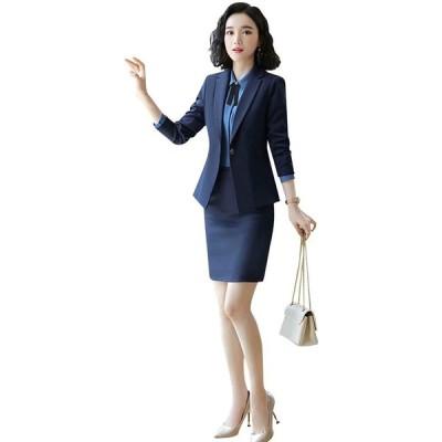 パンツスーツ レディース スカートスーツ 2点セット ビジネス OL 通勤 面接求職 結婚式 フォーマル セットアップ 大き(s210204048)