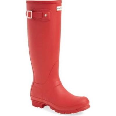 ハンター HUNTER レディース レインシューズ・長靴 シューズ・靴 Original Tall Waterproof Rain Boot Military Red