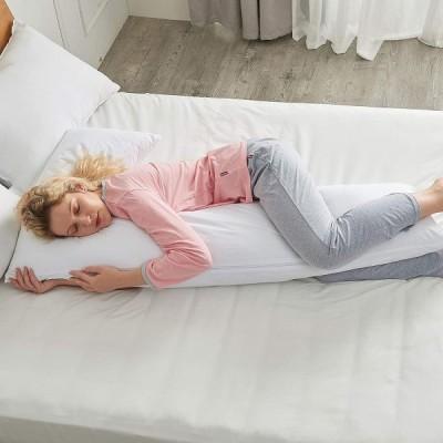 CheerコレクションAlternativeダウンプレミアムボディ枕ファスナー付きカバー L-Shape ホワイト