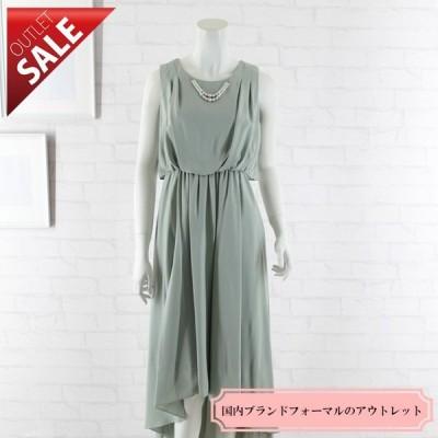 54%OFF! ドレス セール 結婚式ドレス 二次会 ロング |テールカットミモレ丈ドレス9号(ミント)