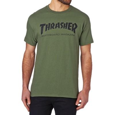 スラッシャー Thrasher メンズ Tシャツ トップス skate mag short sleeve t-shirt Army Green