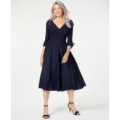 ジェシカハワード レディース ワンピース トップス Portrait-Collar A-Line Dress