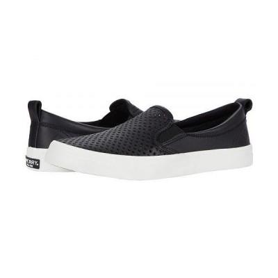 Sperry スペリー レディース 女性用 シューズ 靴 スニーカー 運動靴 Crest Twin Gore Scalloped Perf - Black