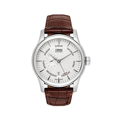 Oris Artelier Automatic Small Second Pointer Day Steel Mens Strap Watch Silver Dial 745-7666-4051-LS 並行輸入品
