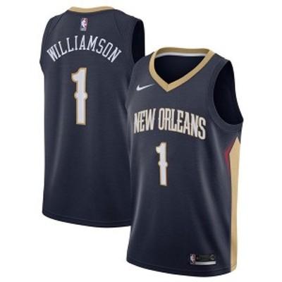 ナイキ メンズ ユニフォーム トップス Men's Zion Williamson New Orleans Pelicans Icon Swingman Jersey Navy