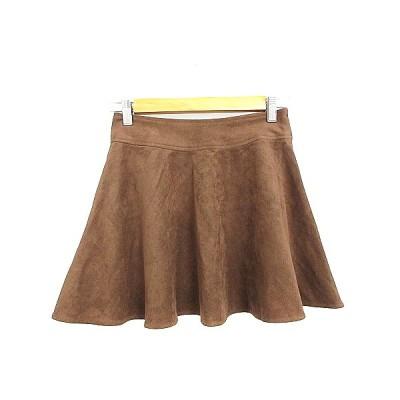 【中古】ダズリン dazzlin スカート フレア ミニ フェイクスエード S 茶色 ブラウン /AAM39 レディース 【ベクトル 古着】