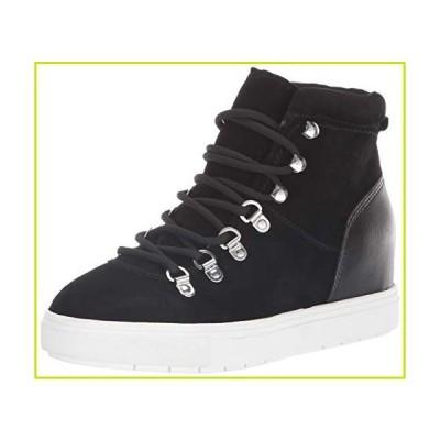 STEVEN by Steve Madden Women's Kalea Sneaker, Black Suede, 6 M US【並行輸入品】