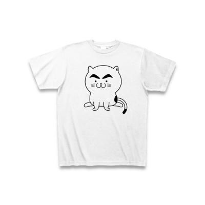 まゆげ子猫 Tシャツ(ホワイト)