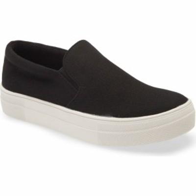 スティーブ マデン STEVE MADDEN レディース スリッポン・フラット スニーカー シューズ・靴 Gills Platform Slip-On Sneaker Black