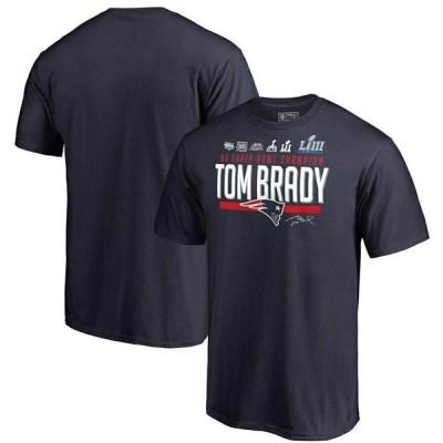 ご予約 NFL トム・ブレイディ ペイトリオッツ Tシャツ 6x スーパーボウル チャンピオン ネイビー【OCSL】